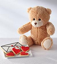 Sugar, Sugar Valentine's Day Plush Bear & Gourmet Sugar Cookie Combo