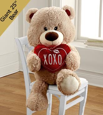 XOXO Hugs & Kisses Plush Bear
