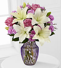 Lavender Twilight Mixed Flower Bouquet - VASE INCLUDED
