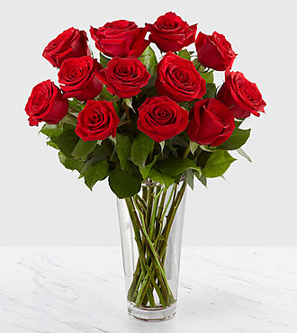 The long stem red rose bouquet by ftd - Bouquet de rose artificielle ...