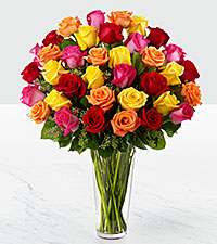The Bright Spark™ Rose Bouquet by FTD® - VASE INCLUDED