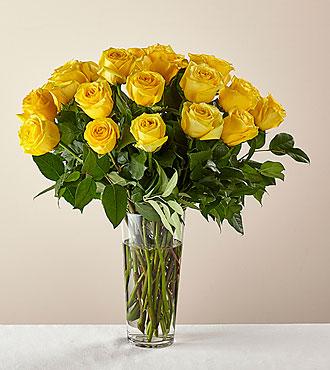 Long Stem Yellow Rose Bouquet