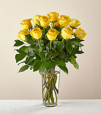 Long Stem Yellow Rose Bouquet