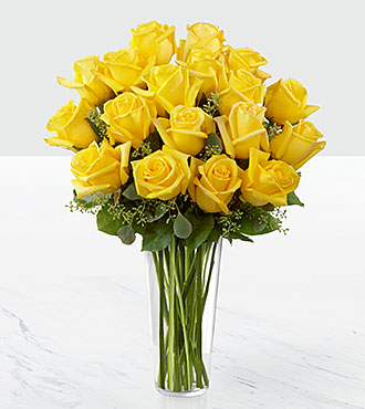 The yellow rose bouquet vase included mightylinksfo
