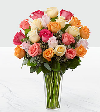 The Graceful Grandeur™ Rose Bouquet by FTD® - VASE INCLUDED