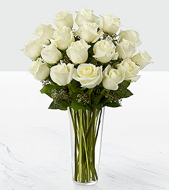 The White Rose Bouquet by FTD® - VASE INCLUDED