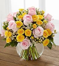 Le bouquet de roses Soft Serenade<sup>&trade;</sup> de FTD® - VASE INCLUS