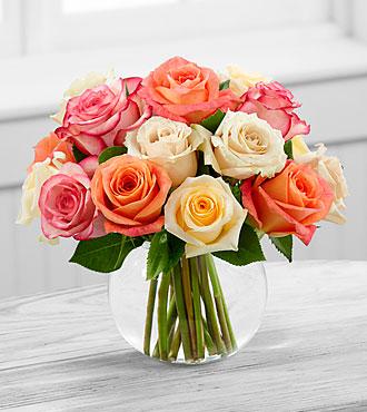 Le bouquet de roses Sundance™ - VASE INCLUS