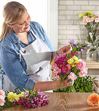 Bouquet original assorti par le fleuriste