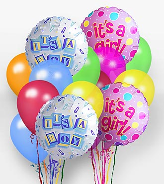 """It's A Girl!"" Balloon Bunch"