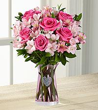 Dreamland Pink Bouquet - PINK VASE - Full & Lush