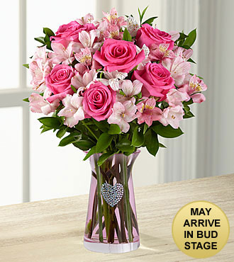Dreamland Pink Bouquet - PINK VASE - Full & Lush