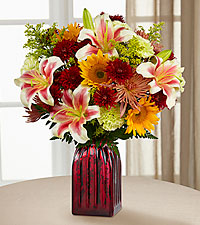 Count Your Blessings Fall Bouquet - RED VASE INCLUDED