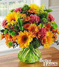 The FTD® In Full Color Fall Bouquet by Better Homes and Gardens® - GREEN VASE INCLUDED