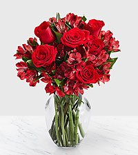 Ruby Red - 30 Blooms of Peruvian Lilies with Roses