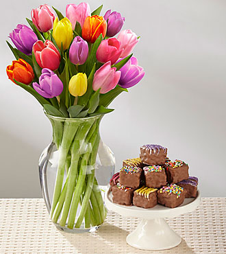 Rush of Color Assorted Tulip Bouquet Ultimate Gift