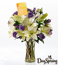 DaySpring® Joyful Morning Lily Bouquet- VASE INCLUDED