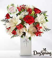 DaySpring® Be Bright Christmas Bouquet- VASE INCLUDED