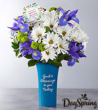DaySpring® God's Love Bouquet -Blue & White