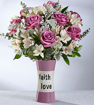 The FTD® Faith, Hope, Love Bouquet  - VASE INCLUDED