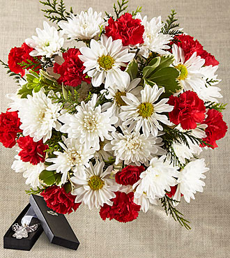 The FTD® Christmas Miracle Bouquet - No Vase & ANGEL BOOKMARK INCLUDED
