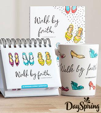 DaySpring® Walk By Faith - Journal, Mug, and Perpetual Calendar Set