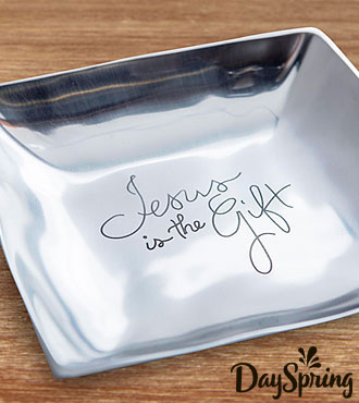 DaySpring® Jesus is the Gift Christmas Tray