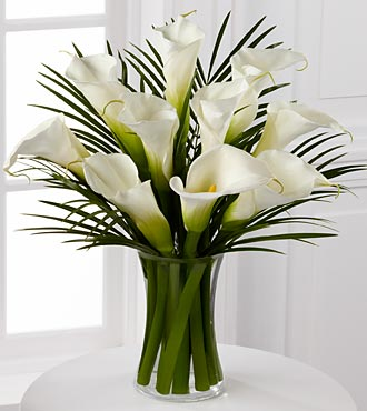 Endless Elegance Calla Lily Bouquet - 10 Stems - VASE INCLUDED