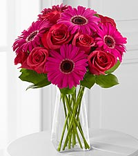 Adrenaline Blush Bouquet - 13 Stems - VASE INCLUDED