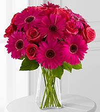 Adrenaline Blush Bouquet - 18 Stems - VASE INCLUDED