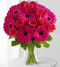 Adrenaline Blush Bouquet - VASE INCLUDED
