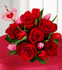 Let Love In Valentine's Day Bouquet - HEART PICK INCLUDED