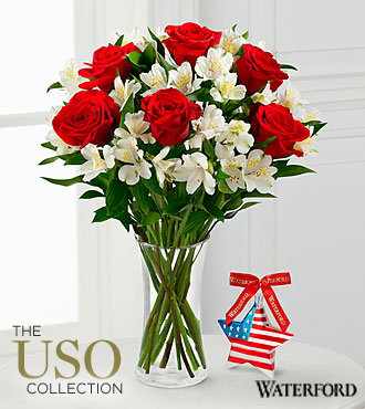Let Freedom Ring Bouquet with Waterford® Patriotic Star - VASE INCLUDED