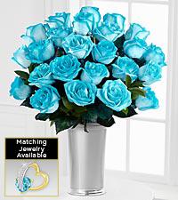 Floral Jewels™ March Aquamarine Birthstone Bouquet
