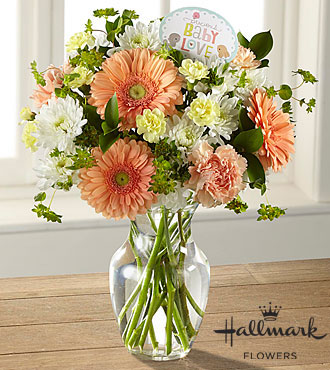 The FTD® Precious Baby Love Bouquet by Hallmark- VASE INCLUDED
