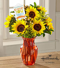 The FTD® Celebrate You Today Bouquet by Hallmark-VASE INCLUDED