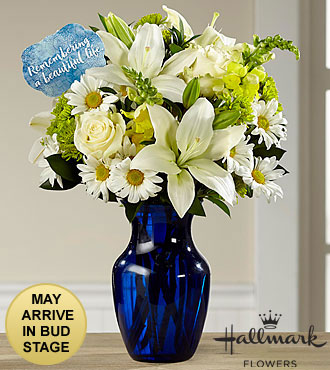 The FTD® Beautiful Life Sympathy Bouquet by Hallmark - VASE INCLUDED