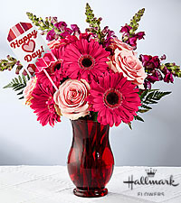 The FTD® Heart Full of Happiness Valentine Bouquet by Hallmark - VASE INCLUDED