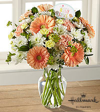 The FTD® Precious Baby Love Bouquet by Hallmark-VASE INCLUDED
