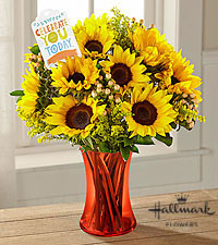 The FTD® Celebrate You Today Bouquet by Hallmark- VASE INCLUDED