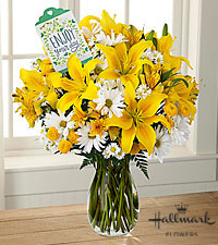 The FTD® Enjoy Your Day Bouquet by Hallmark -VASE INCLUDED