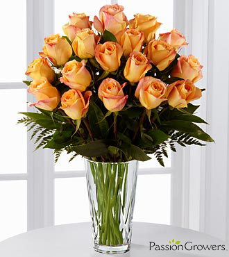 Passion™ for Gratitude Rose Bouquet - 18 Stems of 20-inch Roses - VASE INCLUDED