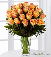 Passion™ for Gratitude Rose Bouquet - 24 Stems of 20-inch Roses - VASE INCLUDED