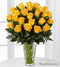 Passion™ for Happiness Rose Bouquet - 24 Stems of 20-inch Roses - VASE INCLUDED