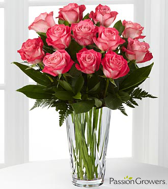 Passion™ for Beauty Rose Bouquet - 12 Stems of 20-inch Roses - VASE INCLUDED