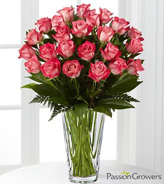Passion™ for Beauty Rose Bouquet - 24 Stems of 20-inch Roses - VASE INCLUDED