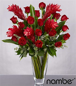 Reasons to Believe Bouquet in Crystal Nambé Vase - 23 Stems