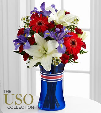 Star-Spangled Happiness Bouquet - VASE INCLUDED