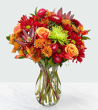 Amber Influence Bouquet - VASE INCLUDED