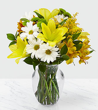 Come Rain or Come Shine Bouquet with Vase